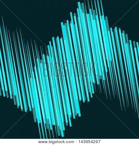 Blue light Line on dark abstract background. Bright Line moving. Vector illustration of wave of lines