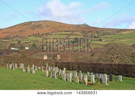 Graveyard at Widecombe in the moor, Dartmoor