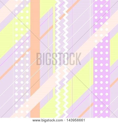 Seamless vector colorful geometrical pattern. Pastel colors