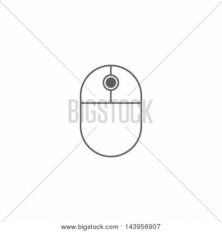 Vector illustration of mouse icon on the white background