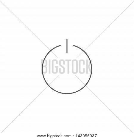 Vector illustration of turn off icon on the white background