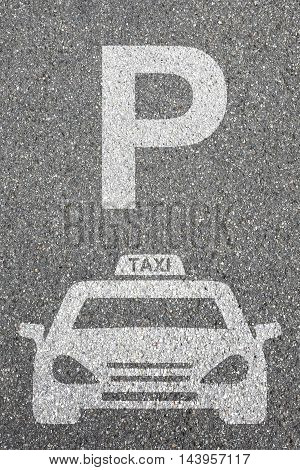 Parking Lot Sign Car Park Taxi Cab Sign Vehicle Street Road Traffic City Mobility