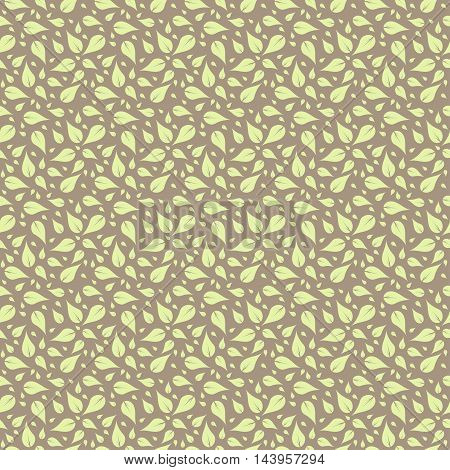 abstract floral pattern in pale pastel tones