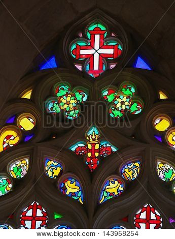Stained Glass In Batalha Monastery
