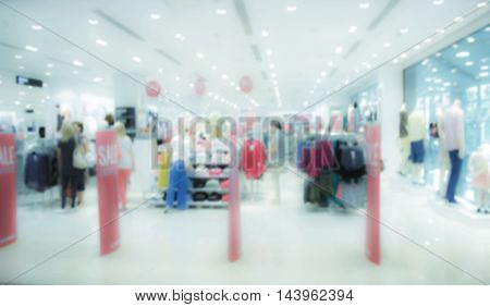 Blur store with bokeh background. Sale background.
