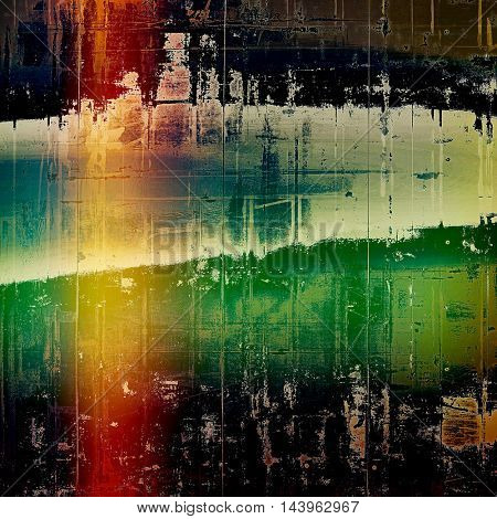 Abstract grunge background or damaged vintage texture. With different color patterns: green; blue; red (orange); yellow (beige); pink; black