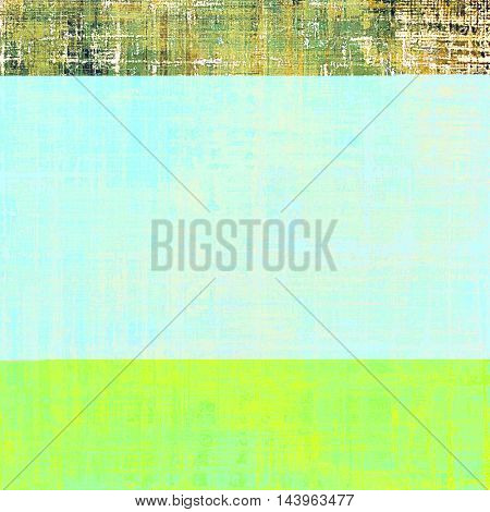 Retro vintage style background or faded texture with different color patterns: green; blue; yellow (beige); brown; white