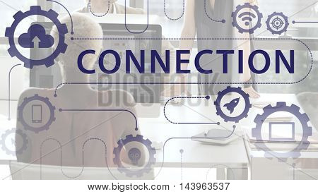 Multimedia Communication Networking Connection Icons Concept