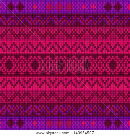 Ornamental seamless pattern. Ethnic ornament. Fabric pattern with a pink shade.