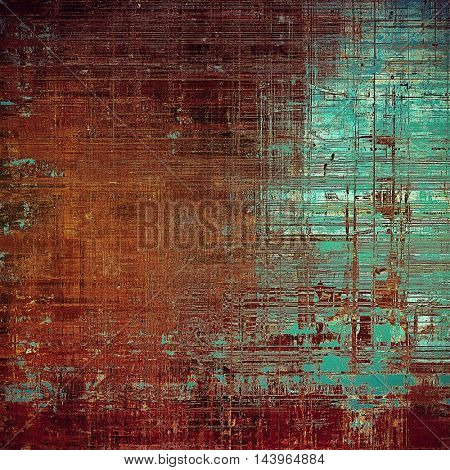 Scratched background with retro style overlay. Aged texture with different color patterns: green; blue; red (orange); purple (violet); brown; pink