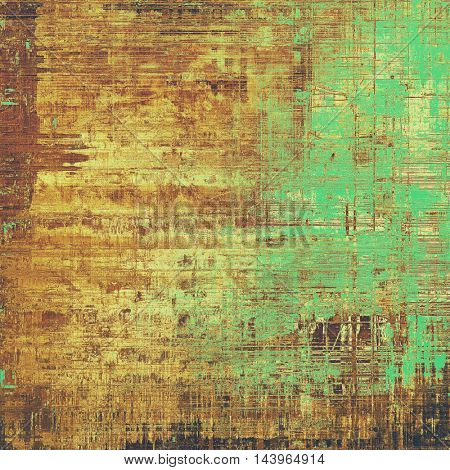 Scratched grunge background or spotted vintage texture. With different color patterns: gray; green; red (orange); yellow (beige); brown