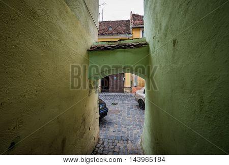 String Street in Brasov city - narrowest street in Romania