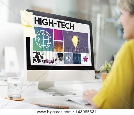 Hi Tech Customer Service Concept