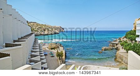 Bay With Turquoise Water, Cala Clara, Majorca