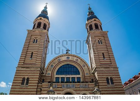 Orthodox Holy Trinity Cathedral in Sibiu in Romania
