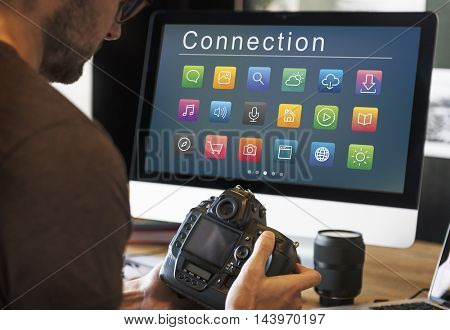 Application Connection Digital Internet Graphic Concept