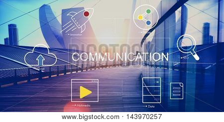 Digital Technology Icons Graphic Concept
