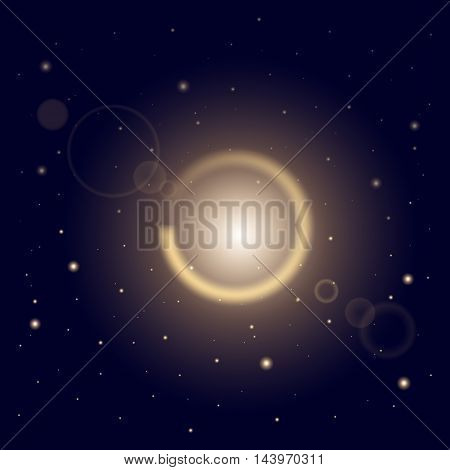 Creative concept Vector set of glow light effect stars bursts with sparkles  on blue background. For illustration template art design, banner for Christmas celebrate, magic flash energy ray.