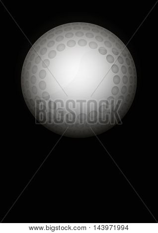 Dark Background of hockey ball sports. Symbol of ball. Realistic Vector Illustration.