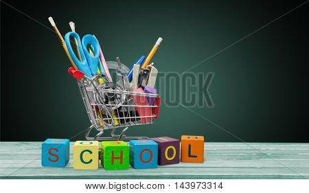 Back to School Education Shopping. Back to school concept