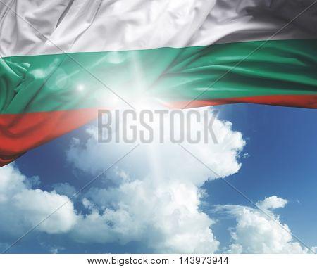 Bulgaria flag on a beautiful day