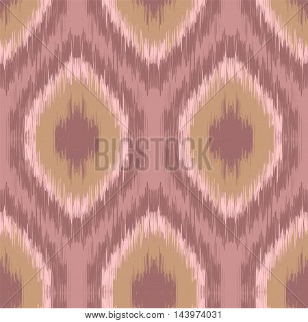 Ethnic folk seamless pattern Ikat Ogee consisting in pastel colors. Boho style