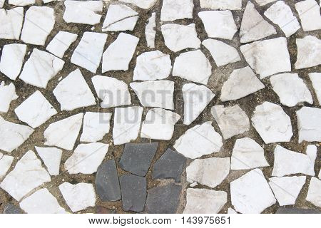 street stones sidewalk texture at a boulevard beach