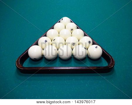 Billiard Ball On The Cloth