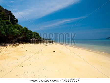 On a Sunny Beach Hideaway Scene