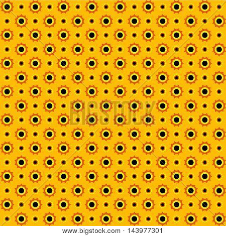 A sun points seamless pattern. Yellow orange and black colors. Seamless texture vector illustration. Colorful background.