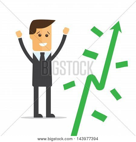Businessman and money tree vector eps 10