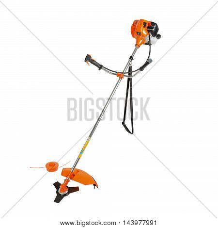 brush cutter isolated on a white background