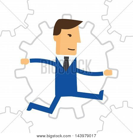 Business Engine. Business concept illustration eps 10
