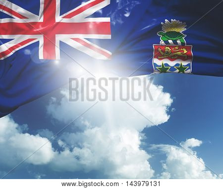 Cayman Islands flag on a beautiful day