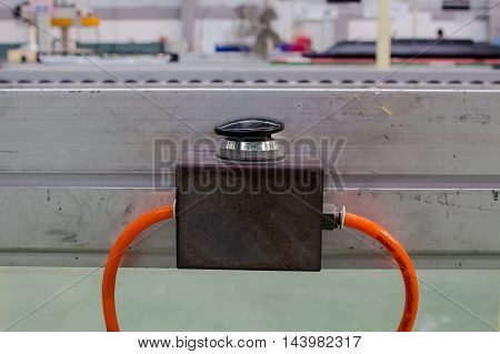 The Black button switch in pneumatic system