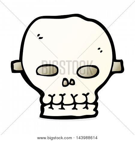 cartoon spooky skull mask