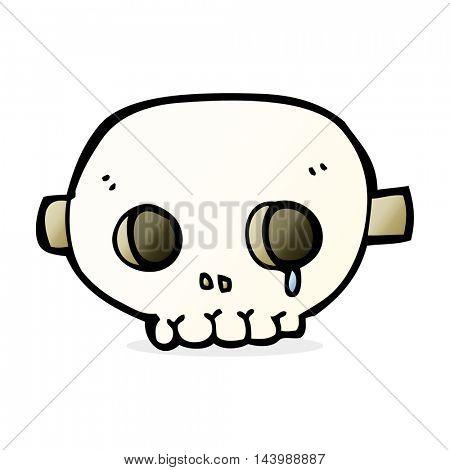 cartoon skull mask