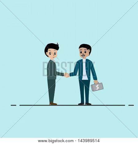Business people handshake success people vector illustrator