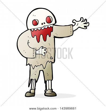 cartoon spooky zombie