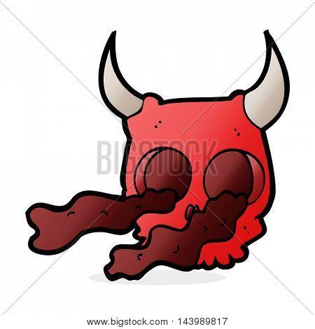 cartoon halloween skull