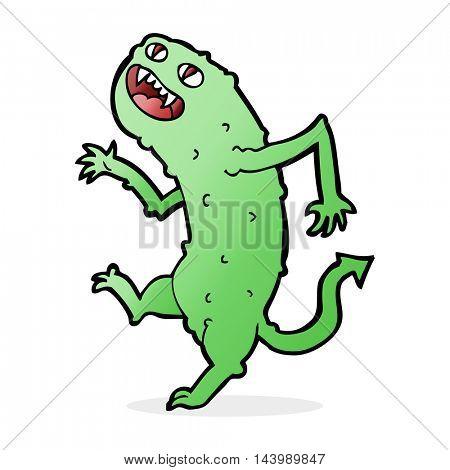 cartoon dancing monster