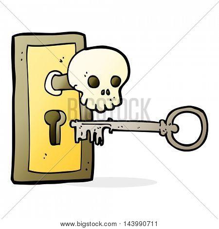 cartoon spooky door knob