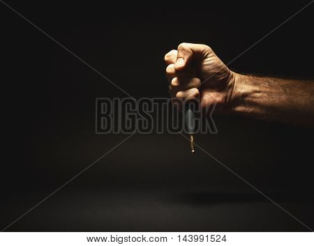 Male Hand Holding A Jack