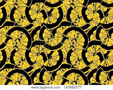 Lemon Pattern Vintage Style 3