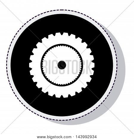 gear setup isolated icon vector illustration design