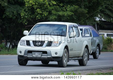 CHIANGMAI THAILAND -AUGUST 9 2016: Private Pickup car Nissan Navara. On road no.1001 8 km from Chiangmai Business Area.