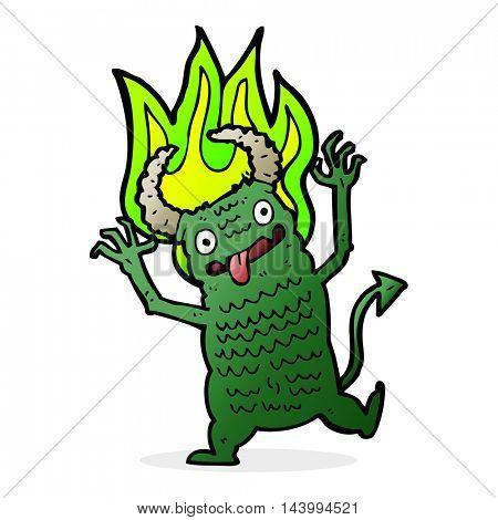 cartoon demon