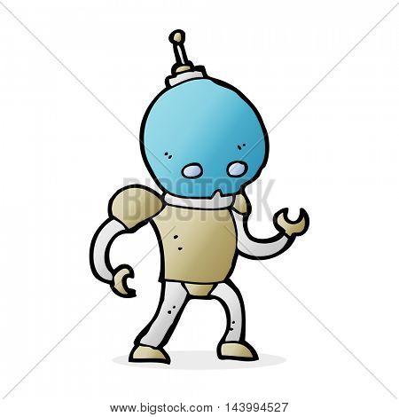 cartoon alien robot
