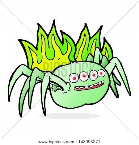 cartoon spooky spider