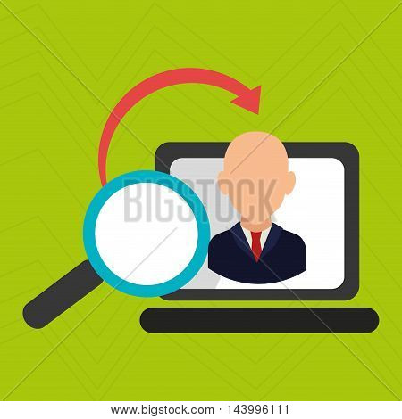 laptop search global money vector illustration eps 10